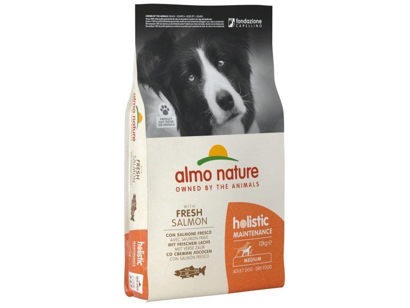 Almo Nature Сухой корм с ЛОСОСЕМ для собак ВСЕХ пород (Medium&Salmon)  - Фото