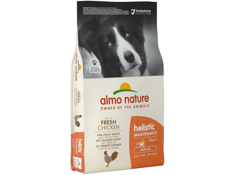 Almo Nature Сухой корм с КУРИЦЕЙ для собак ВСЕХ пород (Medium&Chicken)  - Фото