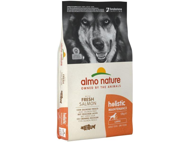 Almo Nature Сухой корм с ЛОСОСЕМ для собак КРУПНЫХ пород (Large&Salmon), 12 кг  - Фото