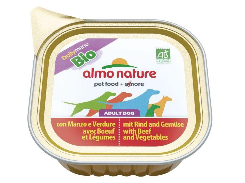 Паштет Almo Nature: ГОВЯДИНА и ОВОЩИ для собак (Bio Daily Menu Beef&Vegetables) - Фото