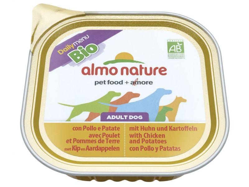 Паштет Almo Nature: КУРИЦА и КАРТОФЕЛЬ для собак (Bio Daily Menu Chicken&Potatoes), 300 гр - Фото