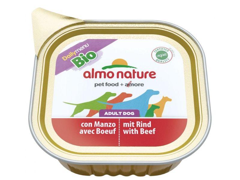Паштет Almo Nature: ГОВЯДИНА для собак (Bio Daily Menu Beef), 100 гр - Фото