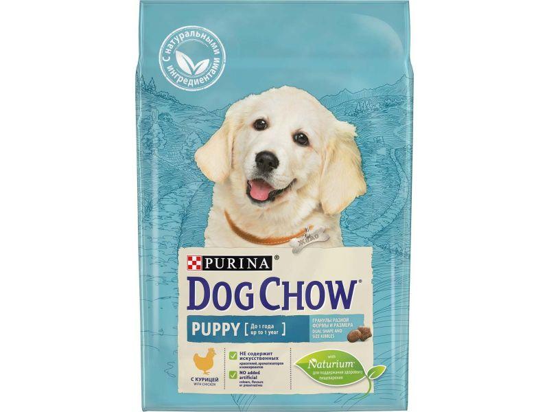Dog Chow Сухой корм с курицей для ЩЕНКОВ (Puppy-Junior) - Фото