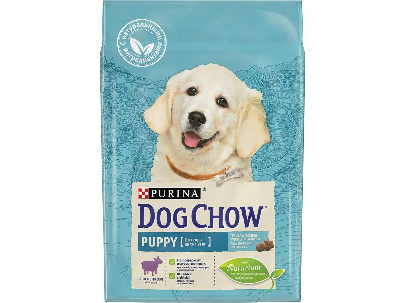 Dog Chow Сухой корм с ягненком для ЩЕНКОВ (Puppy&Junior Lamb) - Фото