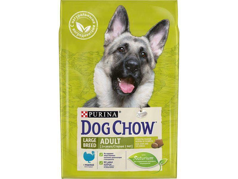Dog Chow Сухой корм с индейкой для собак КРУПНЫХ ПОРОД (Adult Large Breed) - Фото