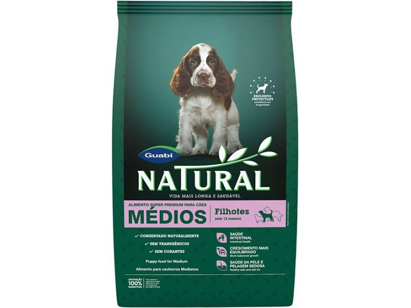 Guabi Natural Сухой корм для ЩЕНКОВ СРЕДНИХ пород (Natural puppies medium breeds), 15 кг - Фото