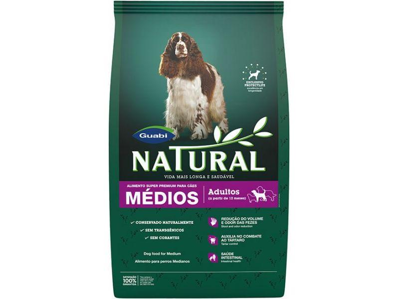 Guabi Natural Сухой корм для взрослых собак СРЕДНИХ пород (Natural adult dog's medium breeds), 15 кг - Фото