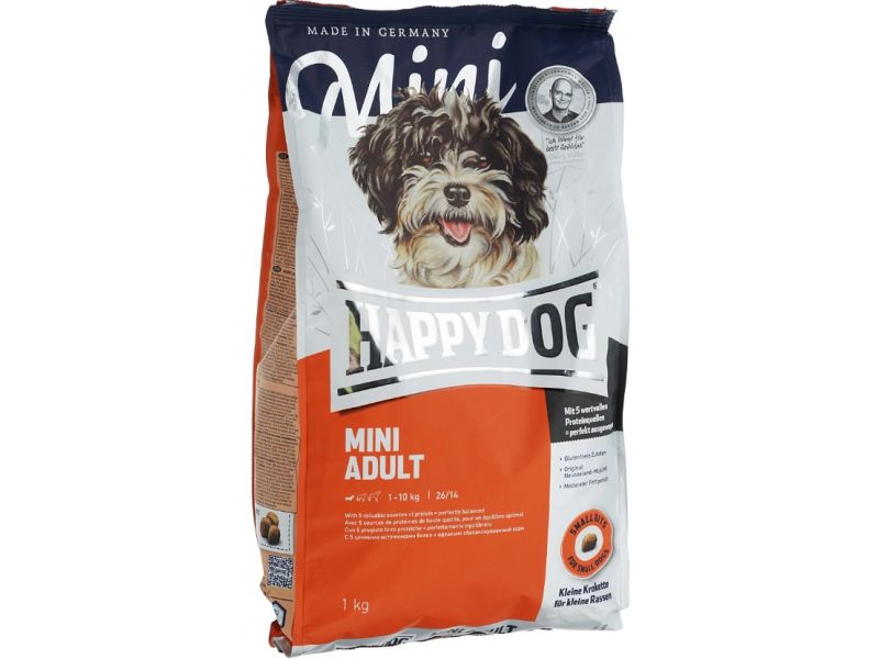 Happy Dog Сухой корм для собак МАЛЫХ пород - до 10 кг (Supreme Adult Mini) - Фото