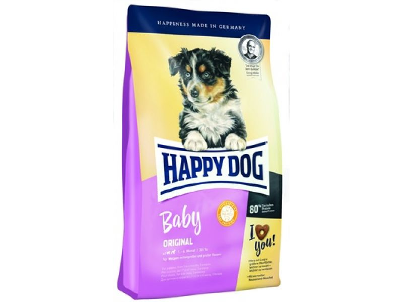 Happy Dog Сухой корм для ЩЕНКОВ СРЕДНИХ и КРУПНЫХ пород до 6 мес. (Baby Original), 10 кг - Фото