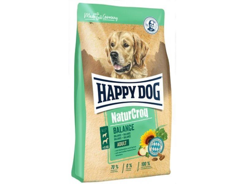 Happy Dog NaturCrog Сухой корм с 5 зерновыми культурами, овощами и сыром для собак (Natur Croq Adult Balance), 15 кг - Фото