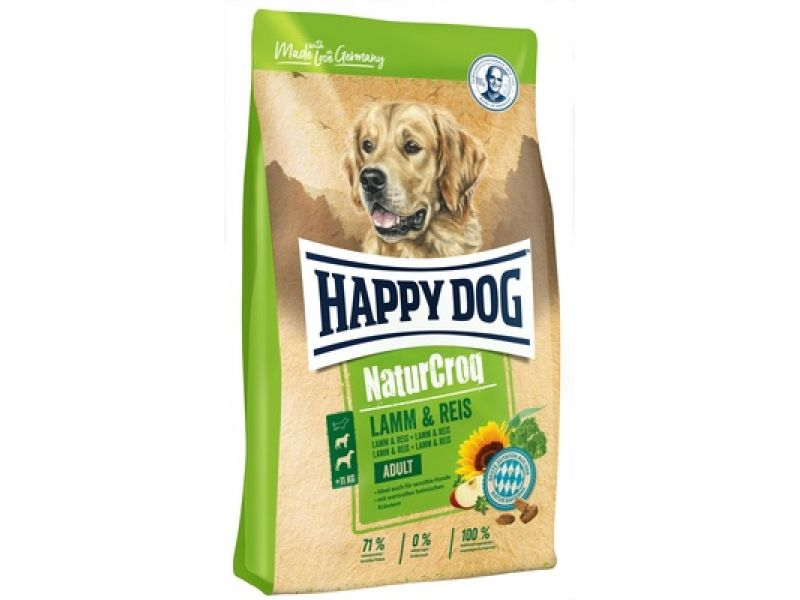 Happy Dog NaturCrog Сухой корм с ЯГНЕНКОМ и РИСОМ для собак с чувствительным пищеварением (NaturCroq Lamm&Reis) - Фото