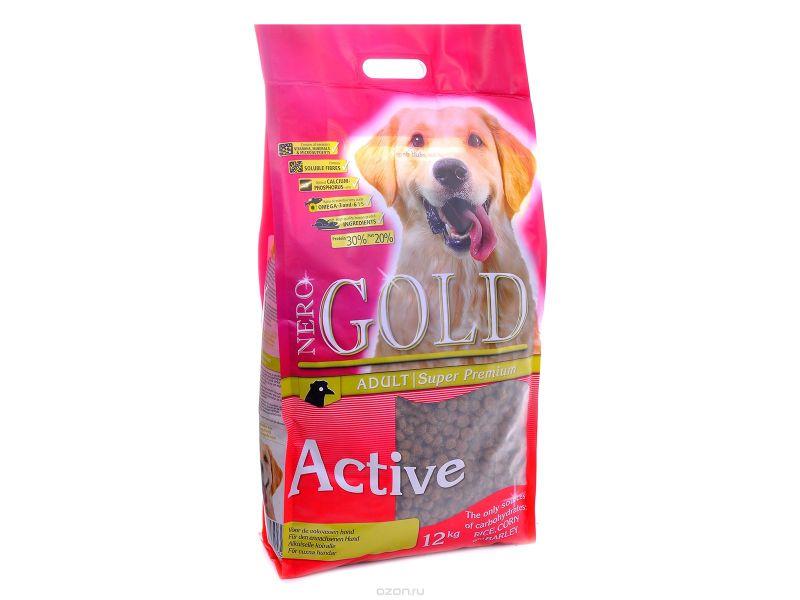 Сухой корм Nero Gold super premium для АКТИВНЫХ собак: КУРИЦА и РИС (Adult Active), 12 кг - Фото