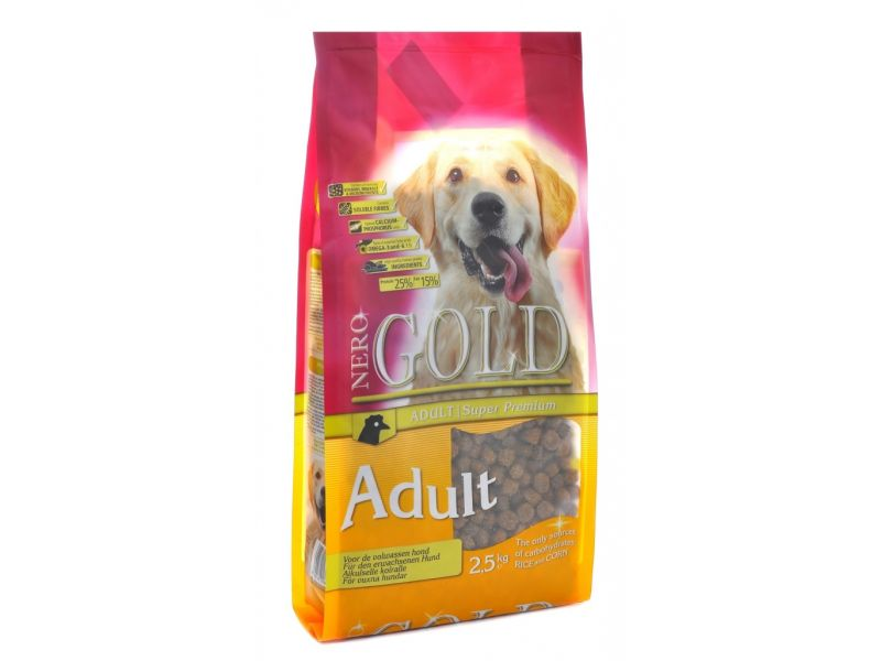 Сухой корм Nero Gold для взрослых собак: КУРИЦА и РИС (Adult) - Фото