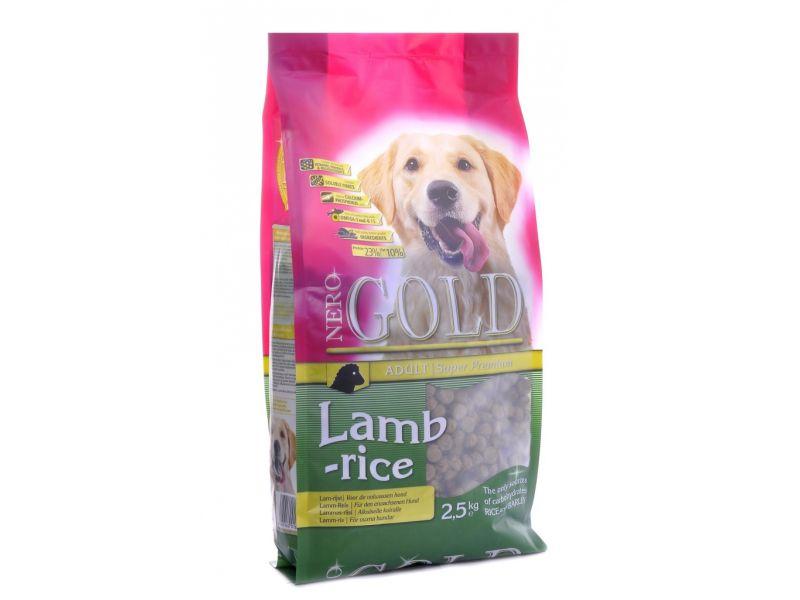 Сухой корм Nero Gold super premium для собак с ЯГНЕНКОМ и РИСОМ (Adult Lamb&Rice 23/10) - Фото