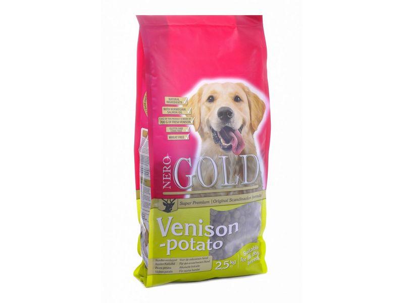 Сухой корм Nero Gold super premium для собак c ОЛЕНИНОЙ и СЛАДКИМ КАРТОФЕЛЕМ (Venison&Potato 20/10) - Фото