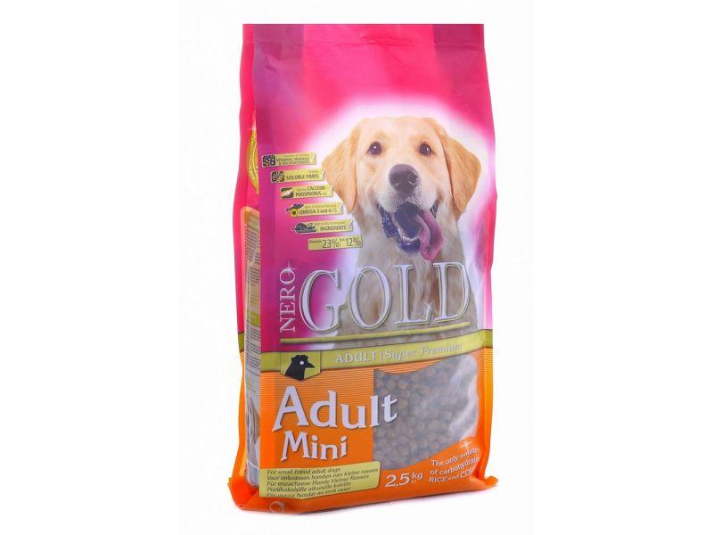 Сухой корм Nero Gold super premium для ВЗРОСЛЫХ собак МАЛЫХ пород (Adult Mini 23/12) - Фото