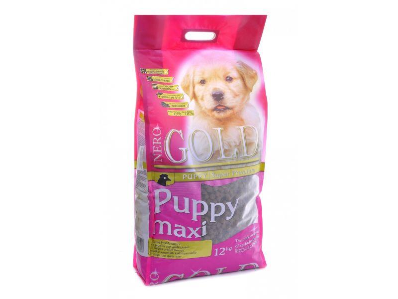 Сухой корм Nero Gold super premium для ЩЕНКОВ КРУПНЫХ пород: Курица и рис (Puppy Maxi 29/18) - Фото
