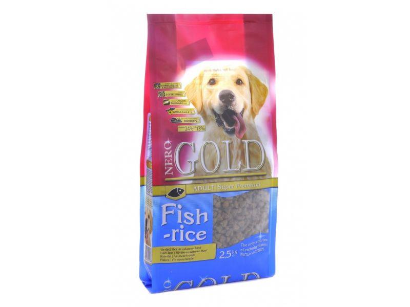 Сухой корм Nero Gold super premium для собак: РЫБНЫЙ коктейль, рис и овощи (Fish&Rice 24/13) - Фото
