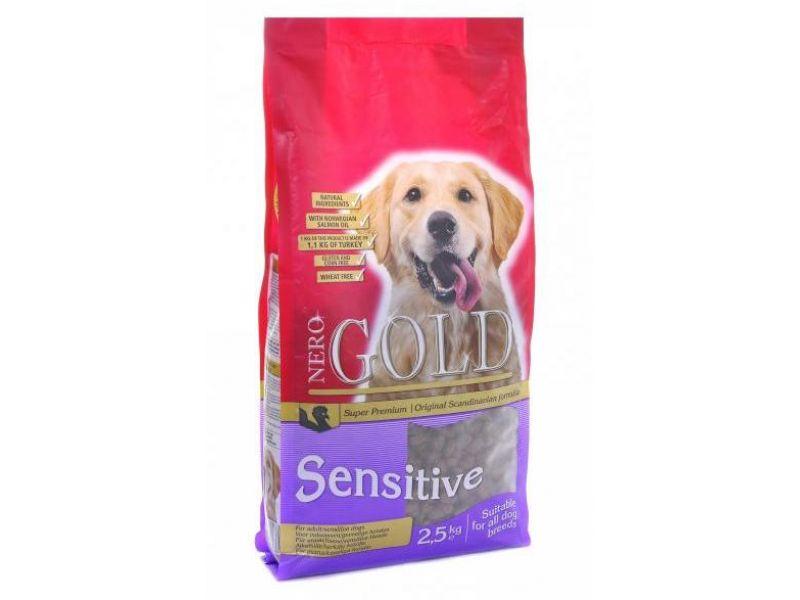 Сухой корм Nero Gold super premium для ЧУВСТВИТЕЛЬНЫХ собак: Индейка и рис (Sensitive Turkey 23/13) - Фото