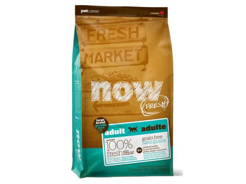 Сухой корм NOW Natural holistic БЕЗЗЕРНОВОЙ с индейкой, уткой и овощами для СОБАК КРУПНЫХ ПОРОД (Fresh Adult Large Breed Recipe Grain Free) - Фото