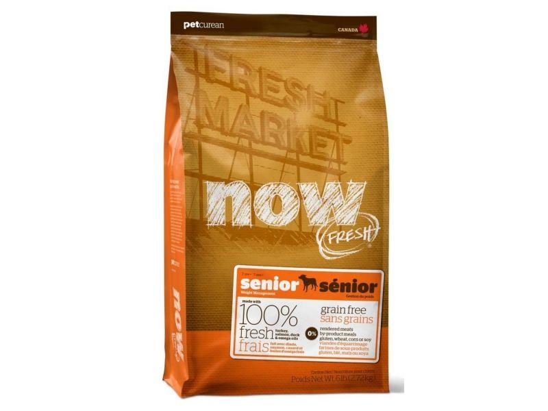 Сухой корм NOW Natural holistic КОНТРОЛЬ ВЕСА - БЕЗЗЕРНОВОЙ с индейкой, уткой и овощами для СОБАК (Fresh Senior Recipe Grain Free) - Фото