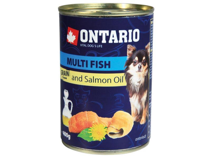 Ontario Влажный корм (консервы) для собак МАЛЫХ пород: РЫБНОЕ АССОРТИ (Ontario Mini Multi Fish&Salmon Oil) - Фото