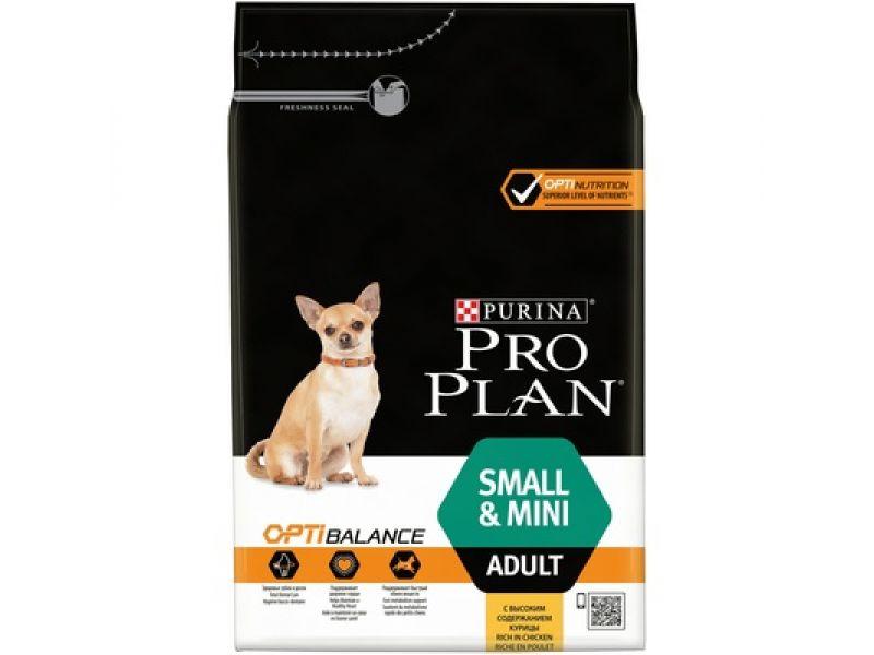 Сухой корм Purina Pro Plan с КУРИЦЕЙ и РИСОМ для собак МАЛЫХ и КАРЛИКОВЫХ пород (Small&Mini Adult Chicken) - Фото