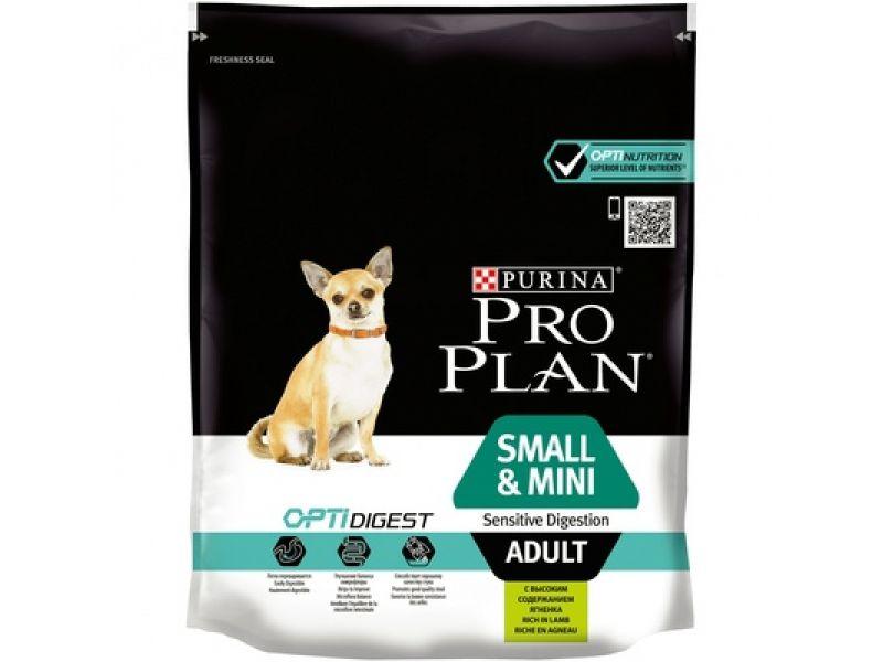 Сухой корм Purina Pro Plan с ЯГНЕНКОМ для собак МАЛЫХ и КАРЛИКОВЫХ пород - ЧУВСТВИТЕЛЬНОЕ пищеварение (Sensitive Digestion) - Фото