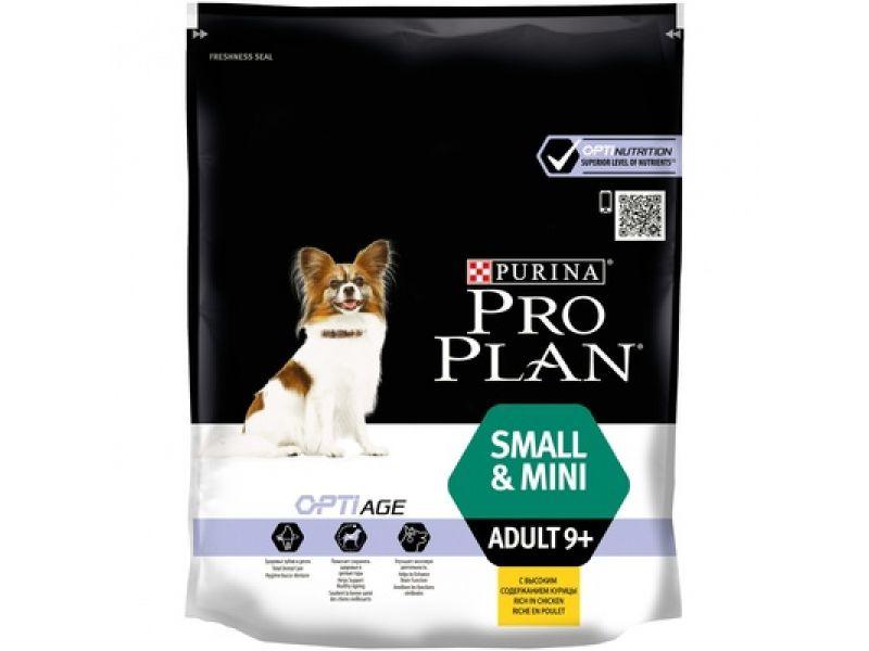 Сухой корм Purina Pro Plan с КУРИЦЕЙ и РИСОМ для пожилых собак МЕЛКИХ и КАРЛИКОВЫХ пород (Mini Adult 9+), 700 гр - Фото