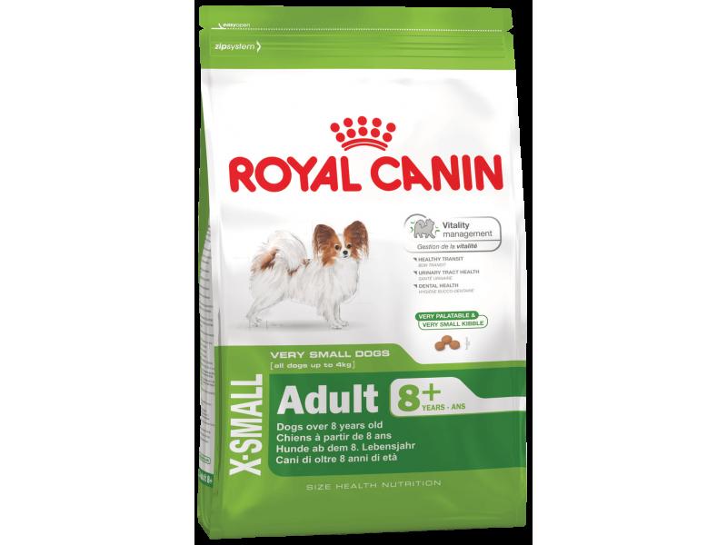 Сухой корм Royal Canin для собак КАРЛИКОВЫХ пород 8-12 лет (X-Small Adult 8+), 500 гр - Фото