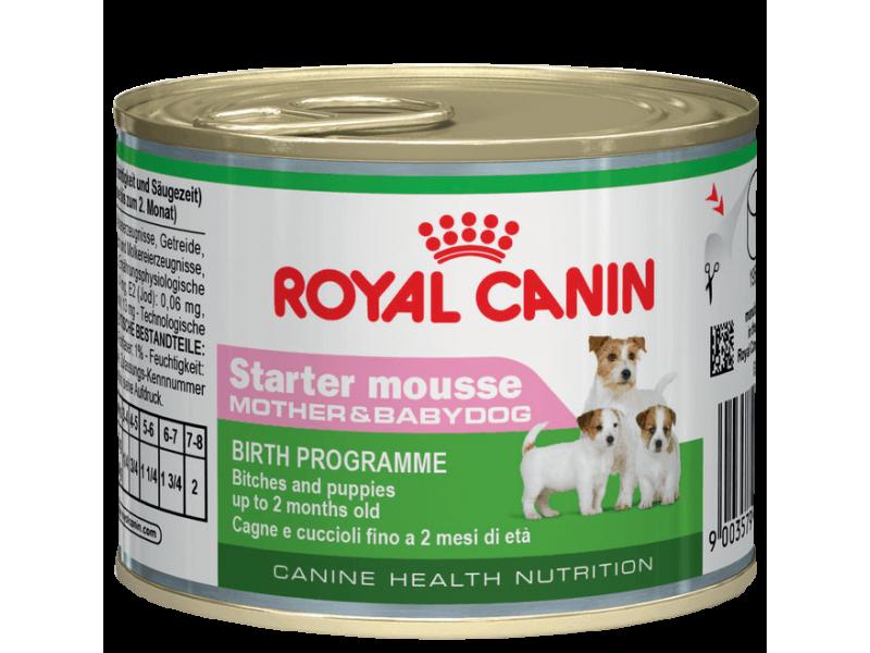 Мусс Royal Canin для щенков до 2 мес., беременных и кормящих сук (Starter Mousse), 195 гр - Фото