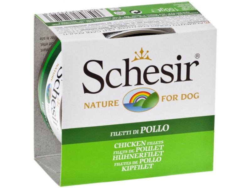 Schesir Консервы с ЦЫПЛЕНКОМ для собак (С 680), 150 г - Фото