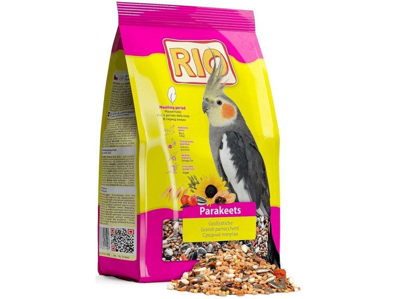 Рио Сухой корм для СРЕДНИХ попугаев во время линьки, 500 гр  - Фото