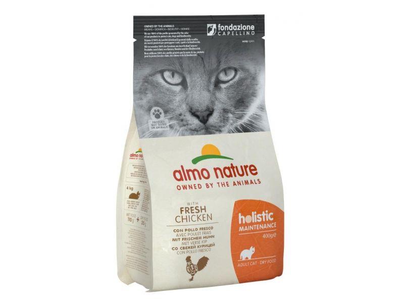 Almo Nature Сухой корм с КУРИЦЕЙ и коричневым рисом для взрослых КОШЕК (Adult Cat Chicken&Rice) - Фото