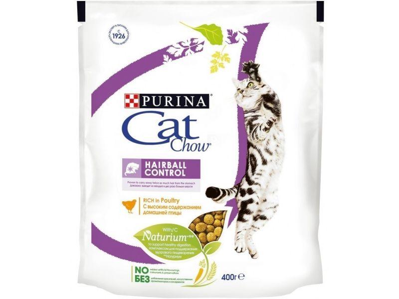 Cat Chow Сухой корм - ВЫВЕДЕНИЕ ШЕРСТИ из желудка (Special Care Hairball Control), для кошек - Фото