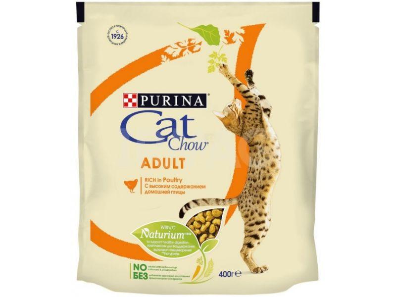 Cat Chow Сухой корм с ДОМАШНЕЙ ПТИЦЕЙ для кошек  - Фото