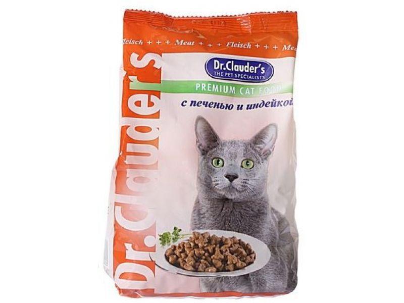 Сухой корм Dr. Clauder  с ИНДЕЙКОЙ и ПЕЧЕНЬЮ для кошек  - Фото