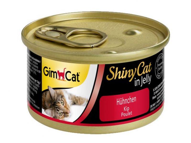 Влажный корм (консервы) Gimpet ShinyCat с ЦЫПЛЕНКОМ для кошек (413112), 70 гр   - Фото