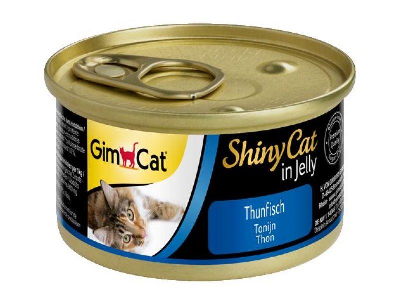 Влажный корм (консервы) Gimpet ShinyCat с ТУНЦОМ для кошек (413082), 70 гр - Фото