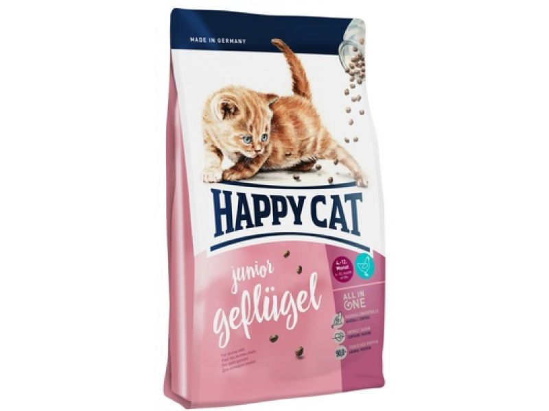 Happy Cat Сухой корм с птицей, для КОТЯТ (Supreme Junior Geflugel) - Фото