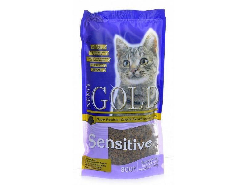 Сухой корм Nero Gold super premium для кошек с ЧУВСТВИТЕЛЬНЫМ ПИЩЕВАРЕНИЕМ - ягненок (Cat Adult Sensitive) - Фото