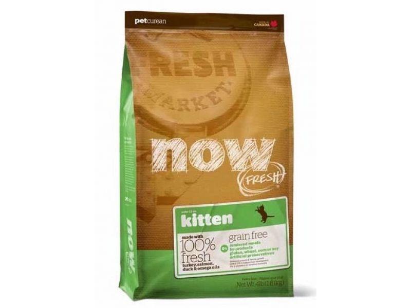 Сухой корм NOW Natural holistic БЕЗЗЕРНОВОЙ с индейкой, уткой и овощами для КОТЯТ (Fresh Grain Free Kitten Recipe) - Фото