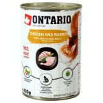 ТОВАР ДНЯ!!! Ontario Влажный корм (консервы) для кошек: КУРИЦА и КРОЛИК (Ontario konzerva Chicken, Rabbitl), 400 г