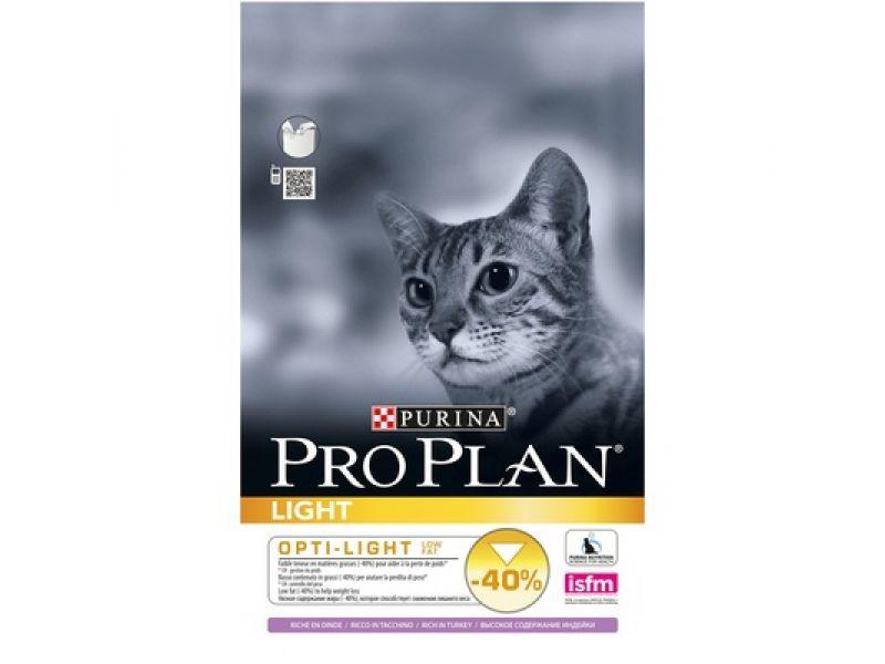 Сухой корм Purina Pro Plan с ИНДЕЙКОЙ для кошек - ЛАЙТ (Light Turkey) - Фото