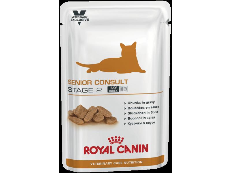 Royal Canin Паучи для кастрированных котов и стерилизованных кошек: от 10 лет (Senior Consult Stage 2), 100 г - Фото