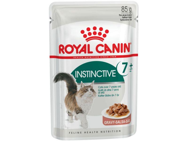 Royal Canin Паучи в СОУСЕ для кошек: 7- 12 лет чувствительные зубы и десны (Instinctive 7+), 85 гр - Фото