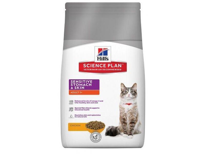 Сухой корм Hill's Science Plan™ на ЯЙЦЕ и РИСЕ для кошек с ЧУВСТВИТЕЛЬНЫМ ЖЕЛУДКОМ (Sensitive Stomach) - Фото