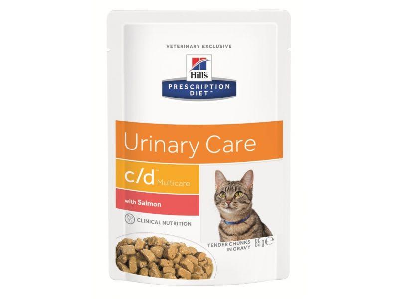 Паучи Hill's Canned Vet C/D с ЛОСОСЕМ для кошек для профилактики МКБ, 85 г - Фото
