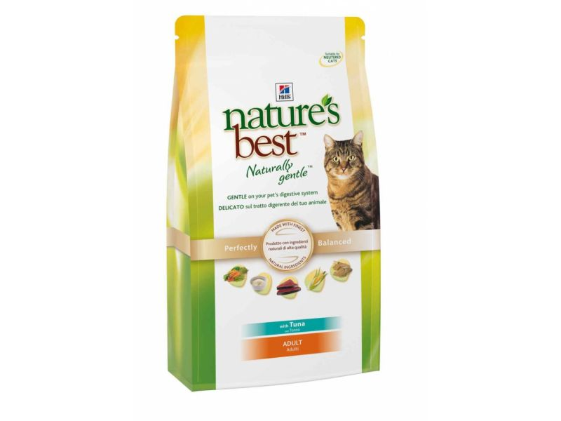 Hill's Science Plan Сухой корм Nature's Best с ТУНЦОМ, РИСОМ и ОВОЩАМИ для кошек (Adult Tuna)  - Фото