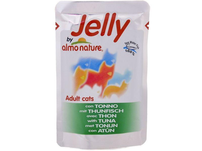 Паучи Almo Nature ТУНЕЦ в ЖЕЛЕ, для кошек (Jelly Cat Tuna), 70 г - Фото